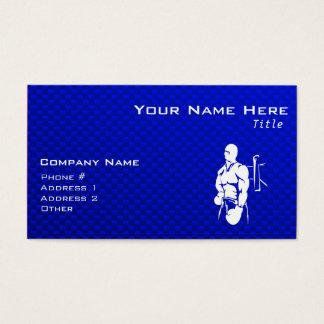 Cartão De Visitas Encaixotamento azul