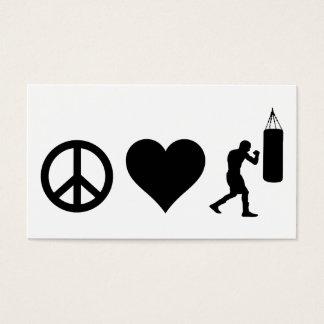 Cartão De Visitas Encaixotamento do amor da paz