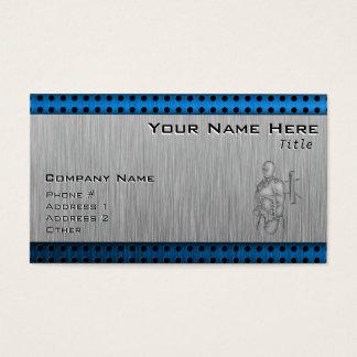 Cartão De Visitas Encaixotamento escovado do Metal-olhar