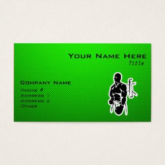 Cartão De Visitas Encaixotamento verde