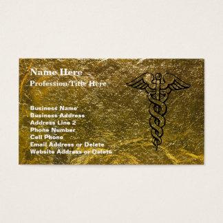 Cartão De Visitas Enfermeira diplomada - Caduceus médico