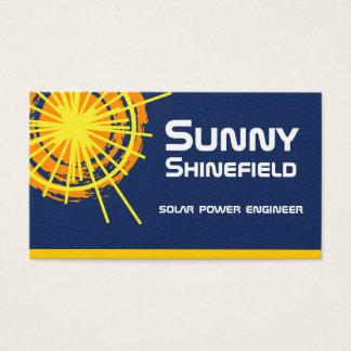 Cartão De Visitas Engenheiro da energia solar customizável