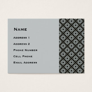 Cartão De Visitas Entrecruzamento cinzento