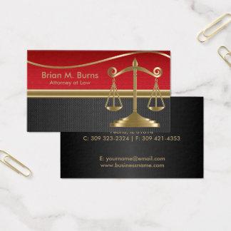 Cartão De Visitas Escalas da lei | de justiça | customizável
