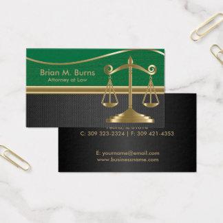 Cartão De Visitas Escalas da lei | do advogado de justiça |