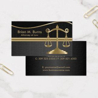 Cartão De Visitas Escalas da lei | do advogado de justiça | - ouro e