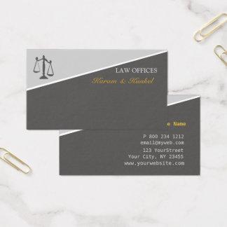 Cartão De Visitas Escalas da lei e da justiça dos advogados de