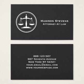 Cartão De Visitas Escalas de justiça do advogado do advogado