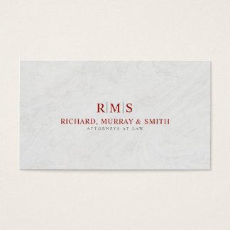 Cartão De Visitas Escritório de advogados simples do profissional
