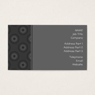 Cartão De Visitas Escuro - a cinza circunda o teste padrão