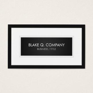 Cartão De Visitas Escuro - cinzento/preto e grande quadro branco