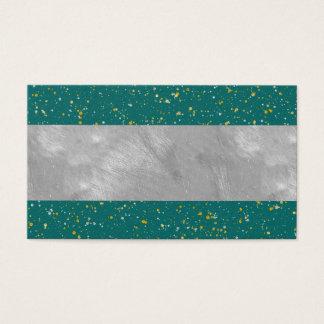 Cartão De Visitas Espaço elegante dos confetes - verde da cerceta &