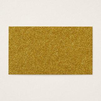 Cartão De Visitas Espalhe seixos do amarelo da poeira de ouro no cru
