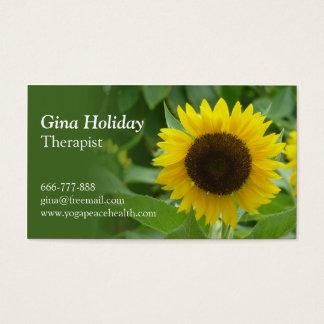 Cartão De Visitas Esperança, felicidade, girassol,