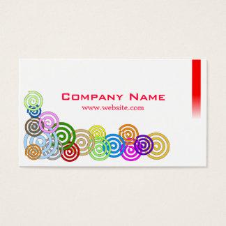 Cartão De Visitas Espirais coloridas