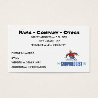 Cartão De Visitas Esqui personalizado da neve
