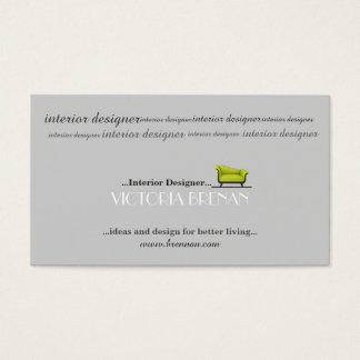 Cartão De Visitas Estilista do decorador de casa do sofá do designer