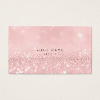 Cartão De Visitas Estilista Sparkly Vip do brilho do pó do rosa do
