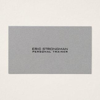 Cartão De Visitas Estilo cinzento mínimo simples de kraft