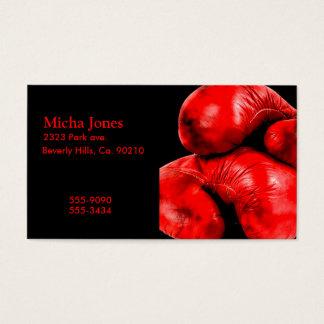 Cartão De Visitas Estilo do Grunge do pugilista das luvas de