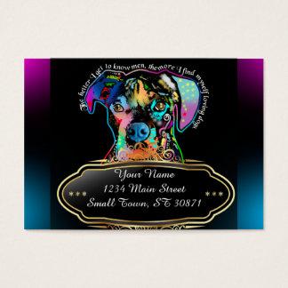 Cartão De Visitas Estilo do pop art do cão do pugilista para amantes