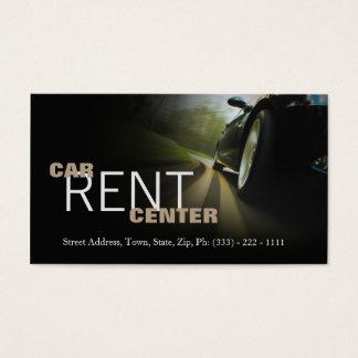 Cartão De Visitas Estrada rápida do centro automotriz do aluguel do