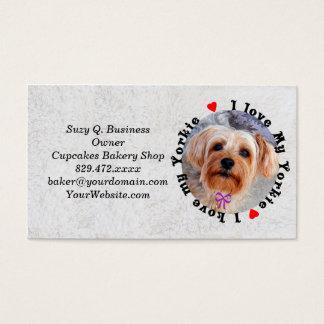 Cartão De Visitas Eu amo meu cão fêmea do yorkshire terrier de