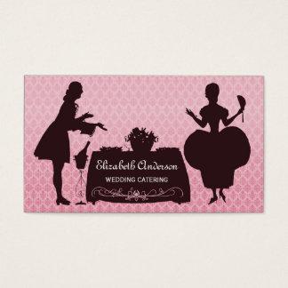 Cartão De Visitas Eventos cor-de-rosa femininos da restauração do