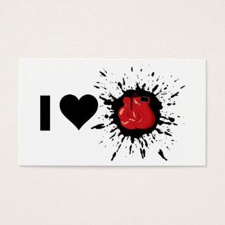 Cartão De Visitas Explosivo que eu amo encaixotar