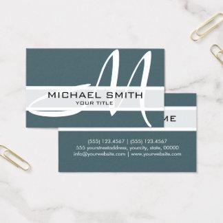 Cartão De Visitas Faísca moderna do espaço do monograma elegante