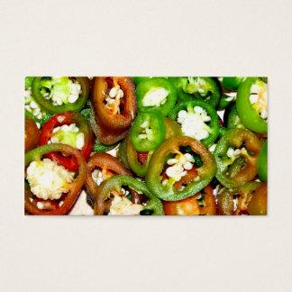 Cartão De Visitas Fatias coloridas da pimenta do Jalapeno