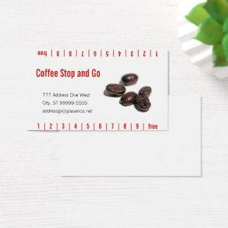 Cartão De Visitas Feijões de café