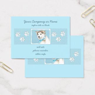 Cartão De Visitas Filhote de cachorro do rouco Siberian