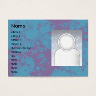 Cartão De Visitas Floral - carnudo