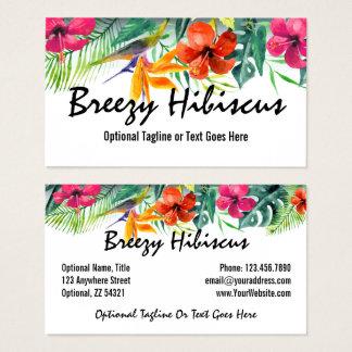 Cartão De Visitas Floral havaiano do paraíso tropical da flor do