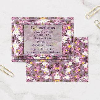 Cartão De Visitas Floral malva do Victorian