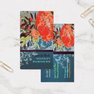 Cartão De Visitas Floral retro de PixDezines Tuscanini + cerceta