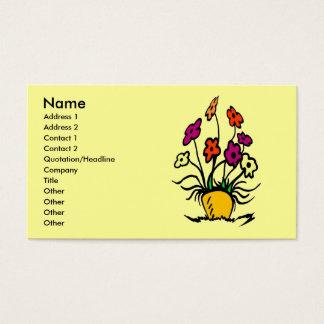 Cartão De Visitas Flores abstratas,