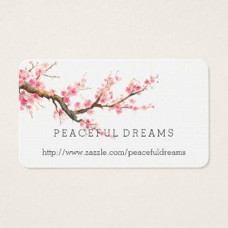 Cartão De Visitas Flores da flor de cerejeira