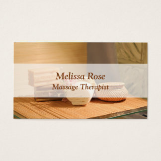 Cartão De Visitas Flores de toalhas do bar da massagem do salão de