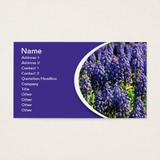 Cartão De Visitas flores do jacinto de uva