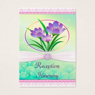 Cartão De Visitas Flores do primavera do rosa Pastel & do verde de