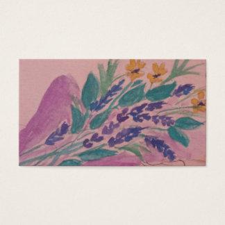 Cartão De Visitas flores selvagens