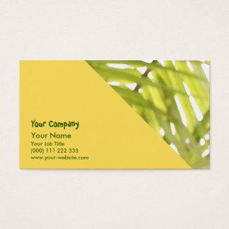 Cartão De Visitas Folha abstrata