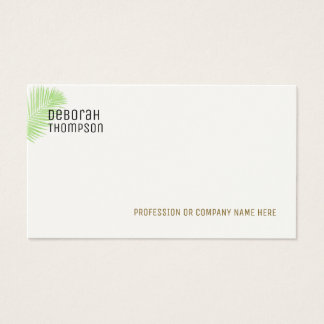 Cartão De Visitas folha de palmeira elegante minimalista