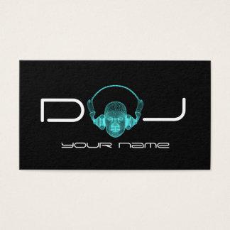 Cartão De Visitas Fones de ouvido do DJ