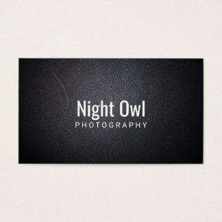 Cartão De Visitas Fotografia de couro preta mínima do fotógrafo