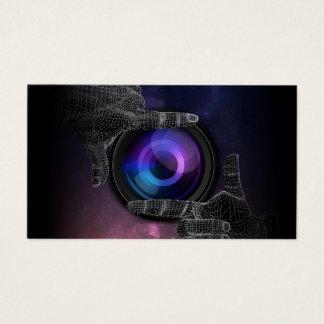 Cartão De Visitas Fotografia quadro mão da câmera do fotógrafo