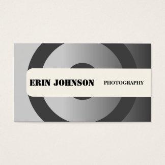 Cartão De Visitas Fotógrafo cinzento lustroso