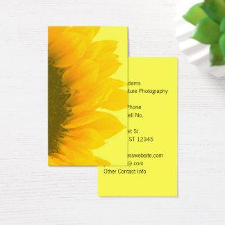 Cartão De Visitas Fotógrafo do girassol